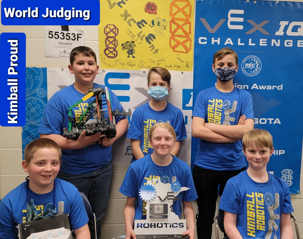 Two Kimball Vex IQ Teams Heading to 2021 World's Competition