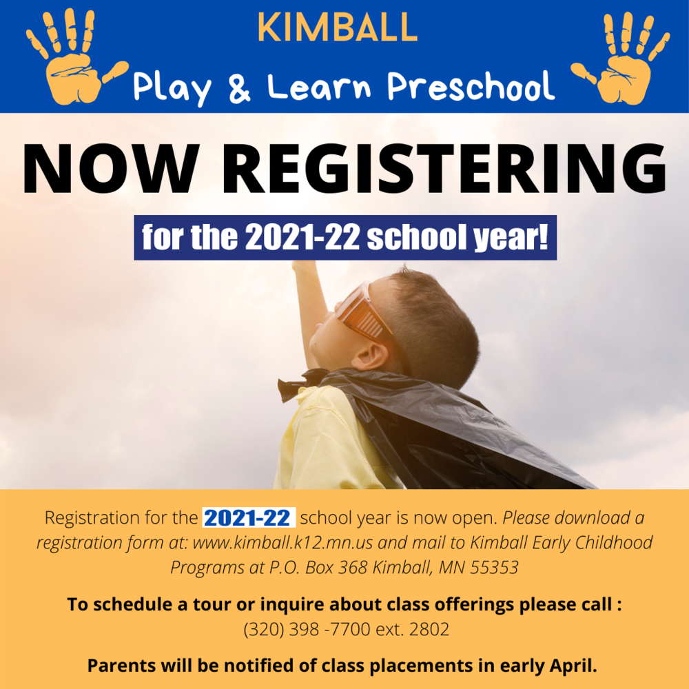 Preschool Registration Night Slated for March 1
