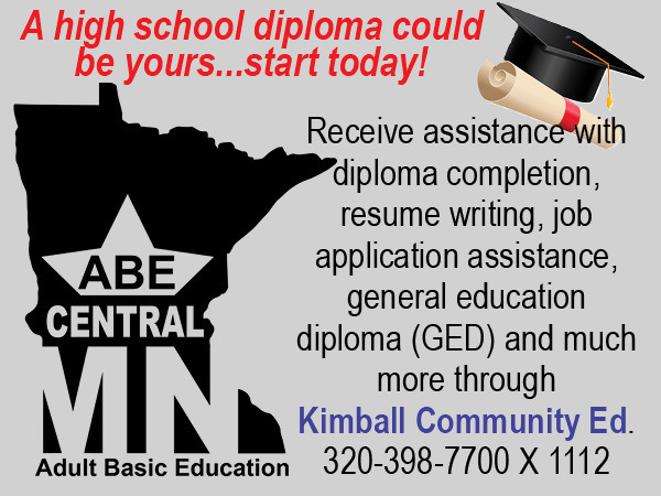 Adult Basic Education Resumes in Kimball