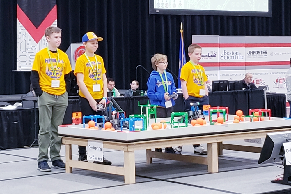 Kimball VEX IQ Places in Top-40 at State