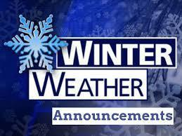 Winter Storm Weather Announcements