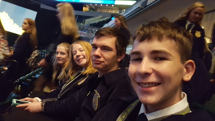 kimball FFA members at the opening session!