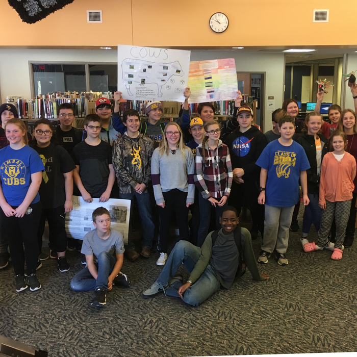 Seventh Graders in second hour presented their Genius Hour Projects