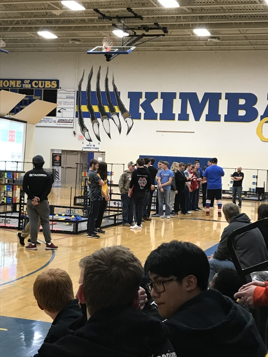 Kimball VEX Robotics Tournament final lineup for varsity division