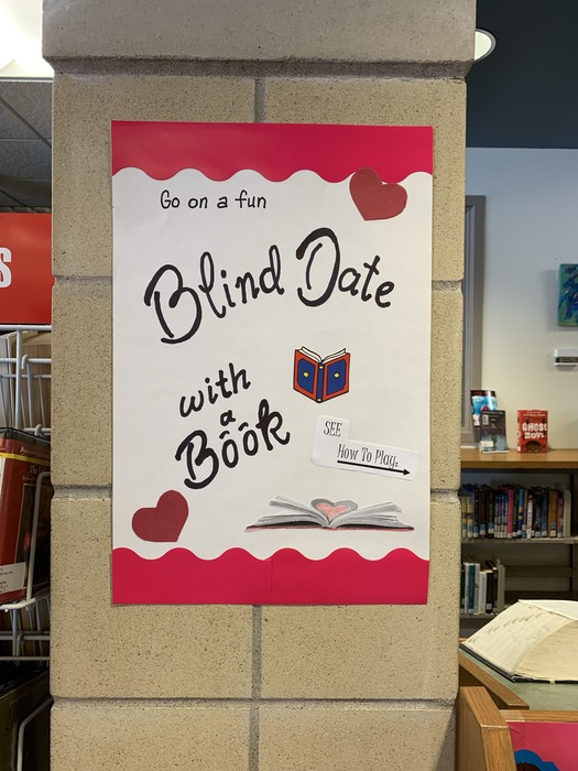 Blind date with a book poster.