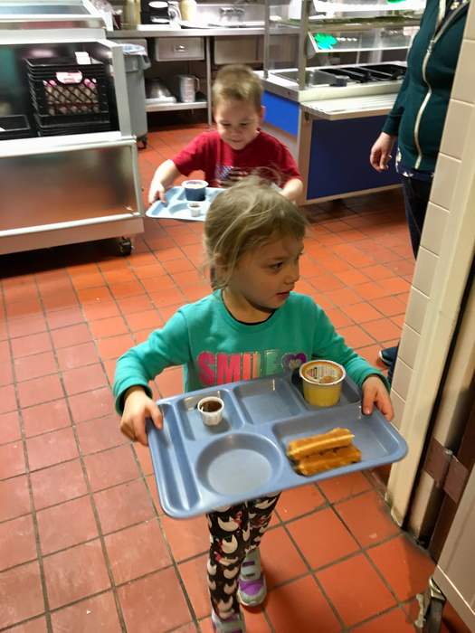 Some of our Early Childhood students start their day with Breakfast.