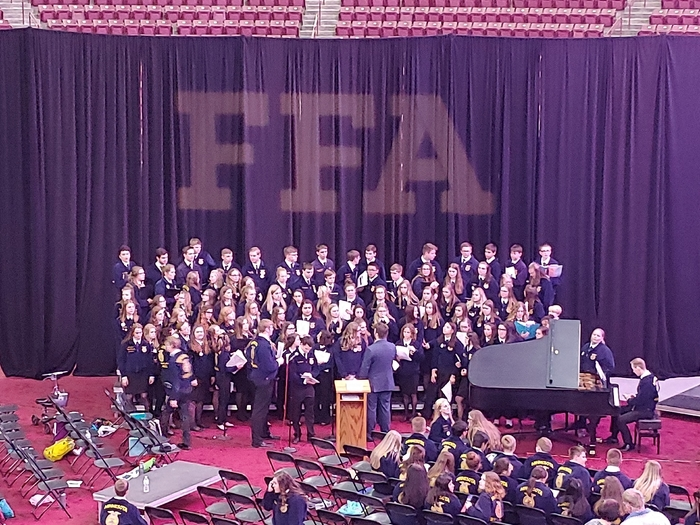 Riley and Jackie singing in the State FFA choir.