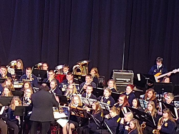 Athena playing in the FFA State Band