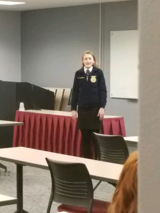 Bailee speaking about the importance of understanding Beef and where it comes from.