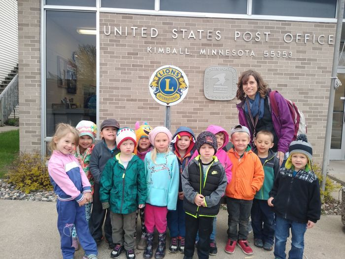 Preschool Students at Post Office