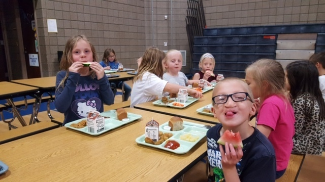 Watermelon a hit during lunch this past week!