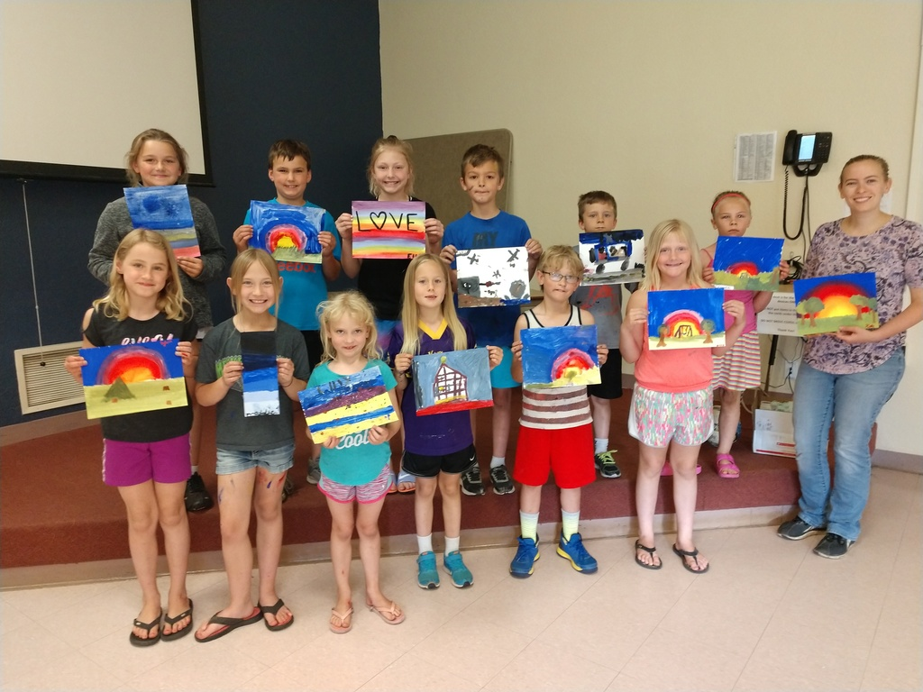 June Painting with Kate Class participants