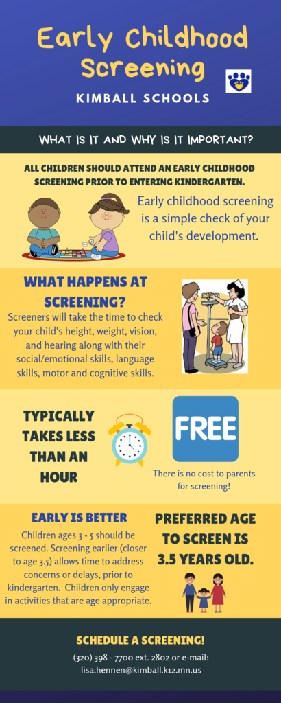 Early Childhood Screening Infographic