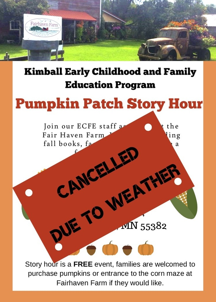 Cancelled Pumpkin Patch Storyhour