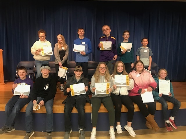 group spelling bee participants